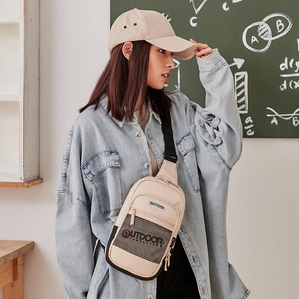 【OUTDOOR】率性學院-單肩包-米色 OD211022BE