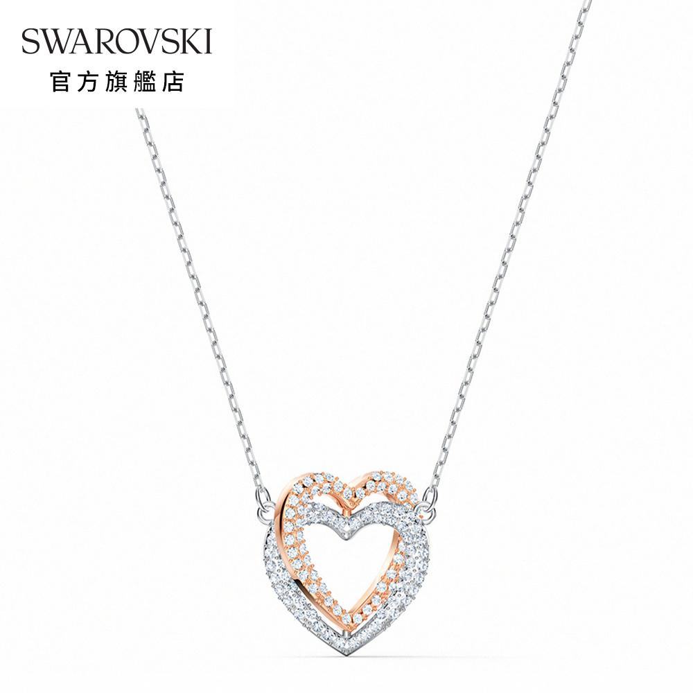 SWAROVSKI 施華洛世奇 Infinity Heart 鍍多色心形項鏈