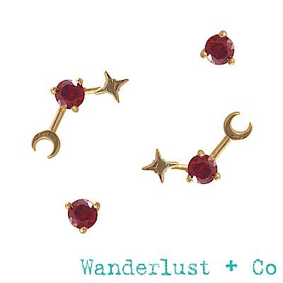 Wanderlust+Co 生日石系列- 一月耳環