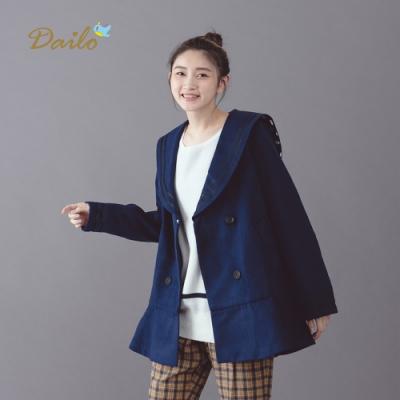 【Dailo】學院風中短版-外套(二色)