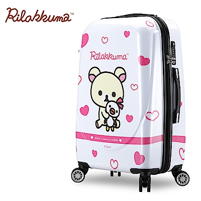 Rilakkuma拉拉熊 夢幻樂園 29吋超輕量鏡面行李箱(粉)