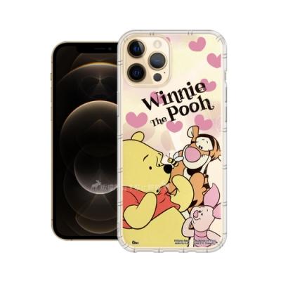 迪士尼授權正版 iPhone 12 Pro Max 6.7吋 繽紛空壓安全手機殼(維尼)