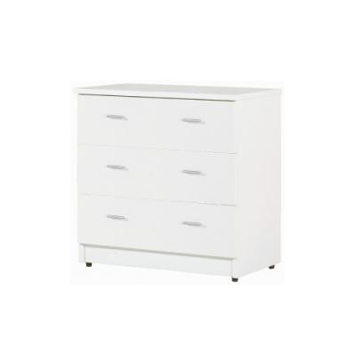 韓菲-白色三屜塑鋼衣櫃-81.5x48x81.5cm