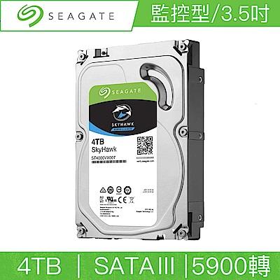 Seagate希捷 監控鷹 SkyHawk 4TB 3.5吋 SATAIII 5900轉監控硬碟(ST4000VX007)
