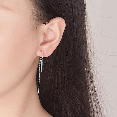 梨花HaNA 韓劇S925銀針金秘書為何那樣C型直鑽耳線耳環銀色