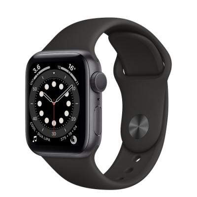 Apple Watch Series 6 (GPS) 40mm 太空灰鋁金屬錶殼+黑色錶帶(MG133TA/A)