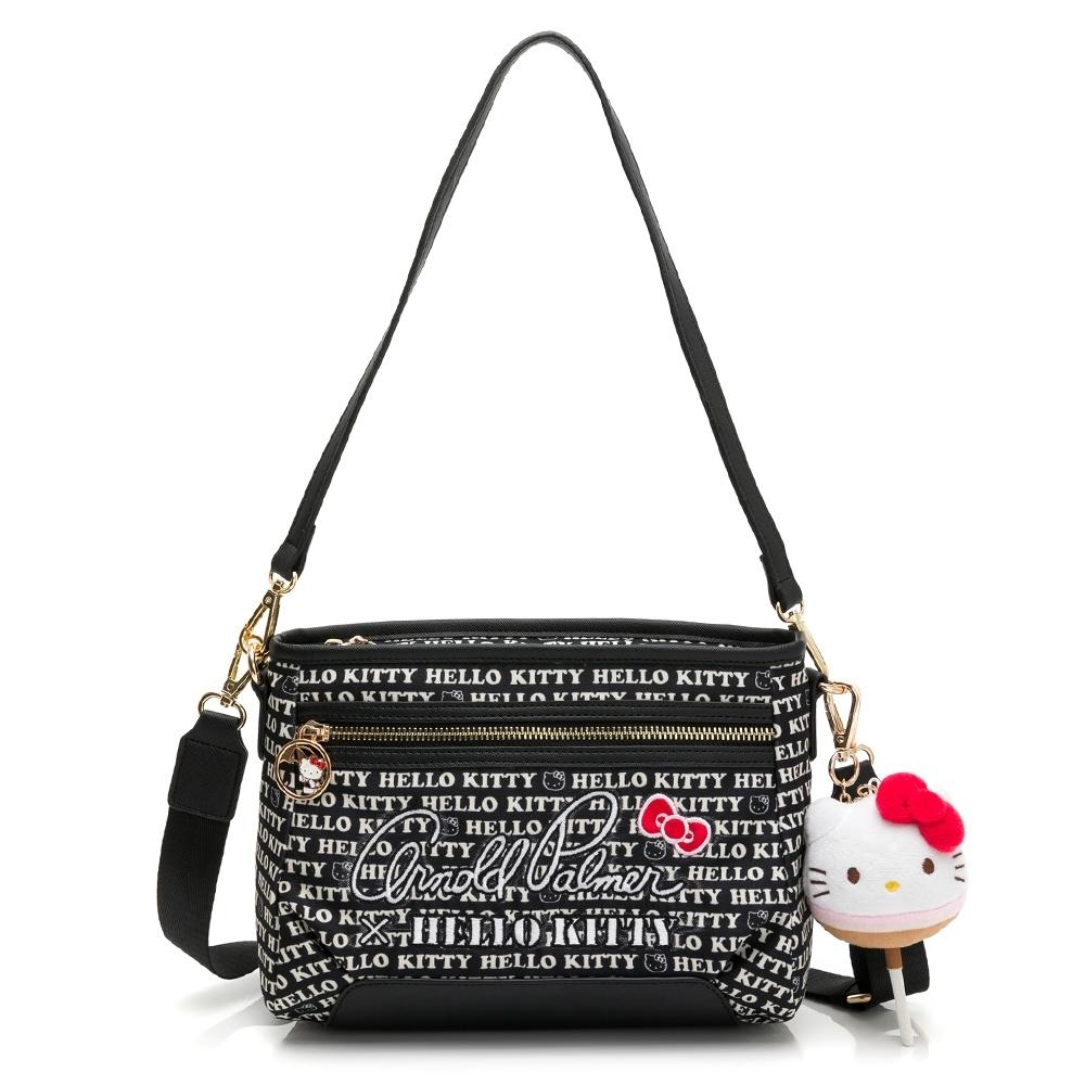 Kitty聯名- 肩背包附長短背帶 LOLLIPOP GIRL棒棒糖女孩系列-黑色