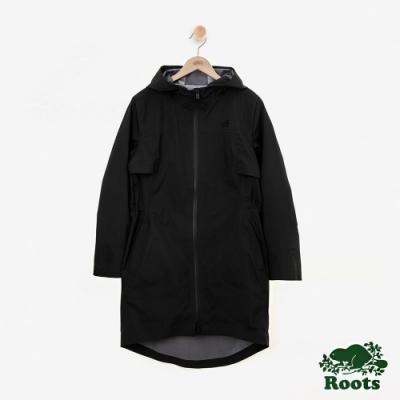 女裝Roots Journey 雨衣大衣-黑色