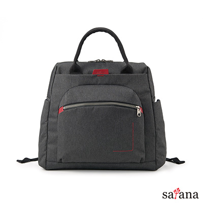 satana -Fresh  輕職人個性背包 - 麻花黑