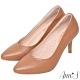 Ann'S舒適療癒系-V型美腿綿羊皮尖頭跟鞋-棕 product thumbnail 1