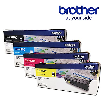 Brother TN-451BK/C/M/Y 原廠碳粉匣(1黑3彩超值組)