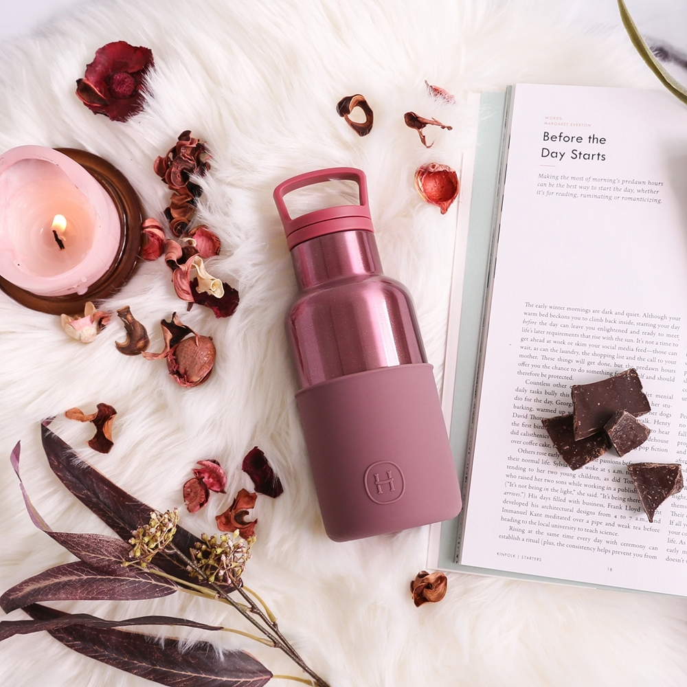 HYDY時尚水瓶CinCin Deco系列 乾燥玫瑰-玫瑰金 不鏽鋼保溫瓶360ml