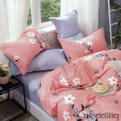 BEDDING-100%棉單人全鋪棉床包兩用被套三件組-莫奈
