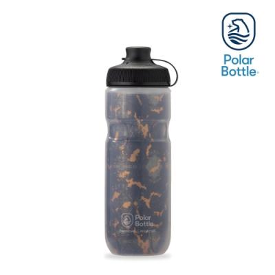【Polar Bottle】20oz MUCK 雙層保冷噴射水壺 SHATTER 棕黑