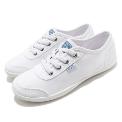 Skechers 休閒鞋 Bobs B Cute 復古 女鞋 避震 緩衝 記憶型泡棉鞋墊 健走 白 藍 113175WHT