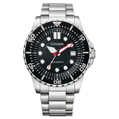 CITIZEN Mechanical 都會紳士機械腕錶-銀X黑-NJ0120-81E-43mm