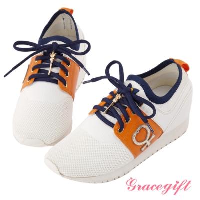 Grace gift-美少女戰士變身器針織休閒鞋 黃