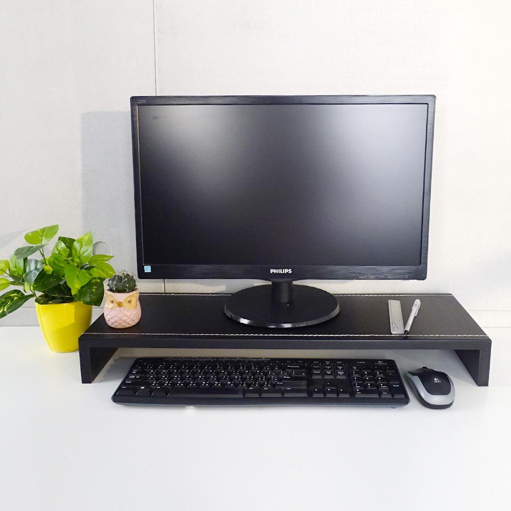 LOGIS|兩入組  防潑水 馬鞍皮桌上架 置物架 鍵盤架 液晶螢