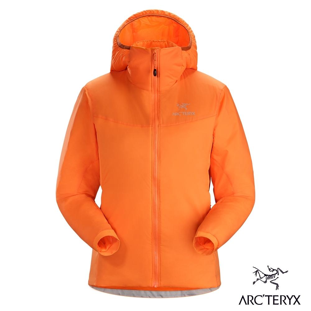 Arcteryx 始祖鳥 女 Atom LT 防潑水 化纖保暖連帽外套 歡樂橘