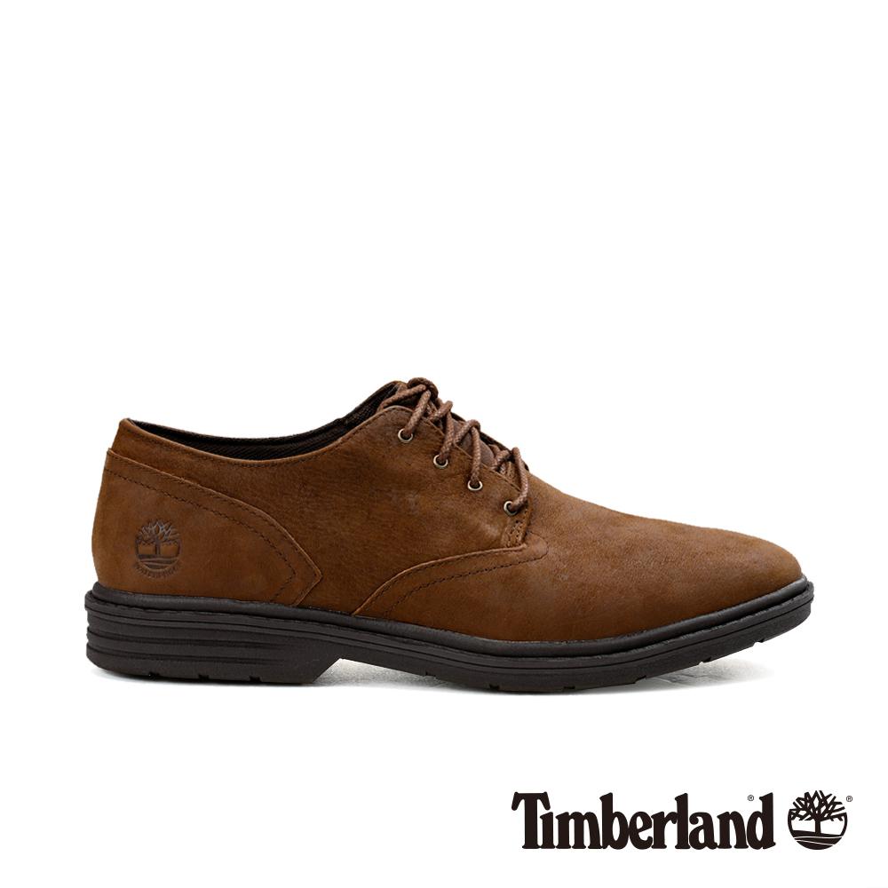 Timberland 男款深棕色正絨面皮革防水牛津鞋 A1QD4