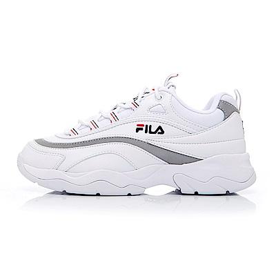 FILA RAY 中性復古運動鞋(老爹鞋)-白銀 4-C614S-811