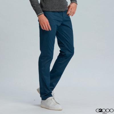 G2000斜紋休閒5袋長褲-藍色