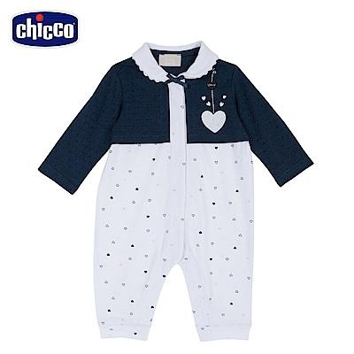 chicco-蝴蝶-有領前開長袖兔裝 (無腳套)