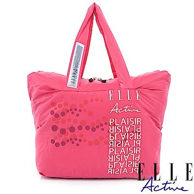 ELLE Active Sensual lmprint系列-購物袋/托特包-桃紅色
