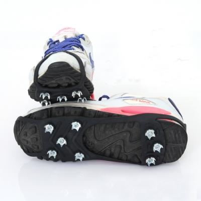 8齒雪地防滑冰爪釘鞋套.戶外登山賞踏雪行走泥地簡易型高彈性橡膠鞋釘鏈雪爪8齒冰爪