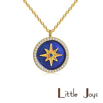 Little Joys 原創設計品牌 寶石藍六芒星項鍊 925銀鍍金