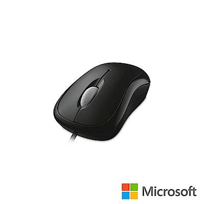 微軟 入門USB光學鯊 - 黑 盒裝