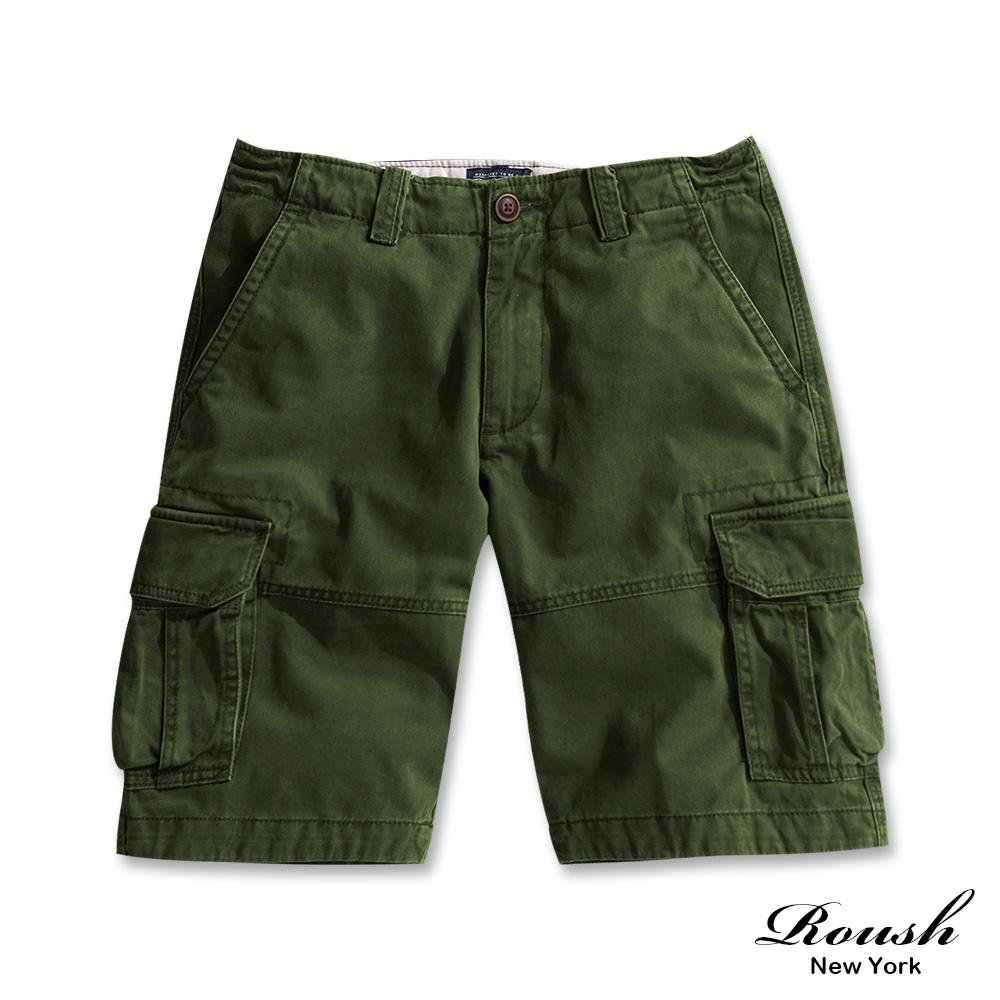 Roush 高磅數基本款雙口袋水洗短褲(5色)