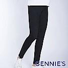 Gennies專櫃-彈力窄管顯瘦修身褲-黑(T4F09)