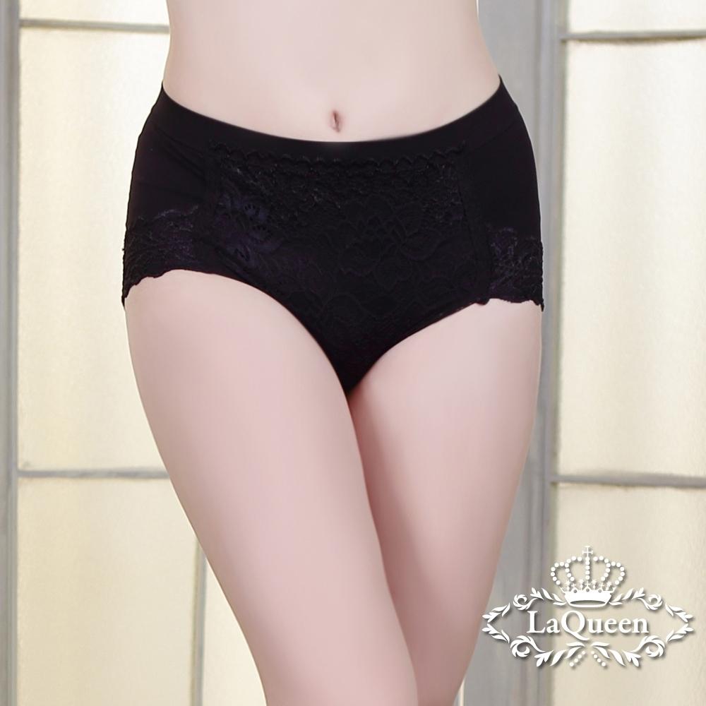 塑褲  雙面彈力提臀蠶絲輕塑褲-黑 La Queen