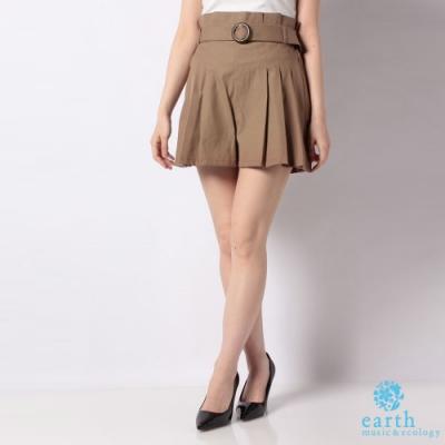 earth music 腰帶裝飾打摺短褲裙