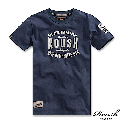 Roush 美式基本字樣短TEE(3色)