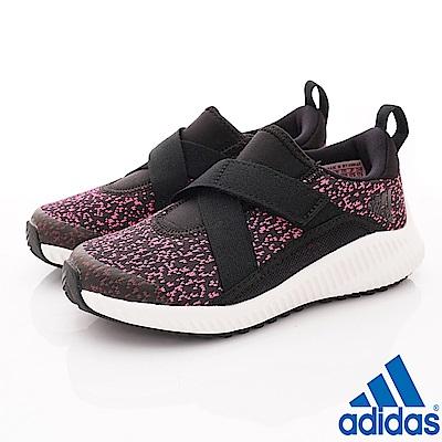 adidas童鞋 緩震針織款 HTW472黑桃(中大童段)