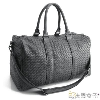 法國盒子 時尚立體編織大容量旅行袋(共二色)