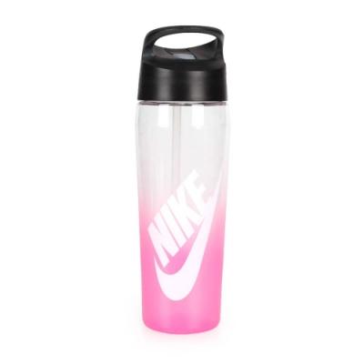 NIKE 24Z 吸管水壺 透明亮粉白