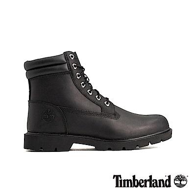Timberland 男款黑色正絨面皮革六吋靴|A1OT6