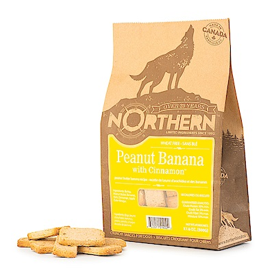 Northern加拿大天然手工餅乾 - 香蕉肉桂花生醬500g