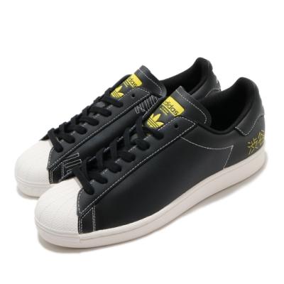adidas 休閒鞋 Superstar Pure 男鞋 愛迪達 三葉草 貝殼頭 涉谷 皮革 黑 白 FV2833