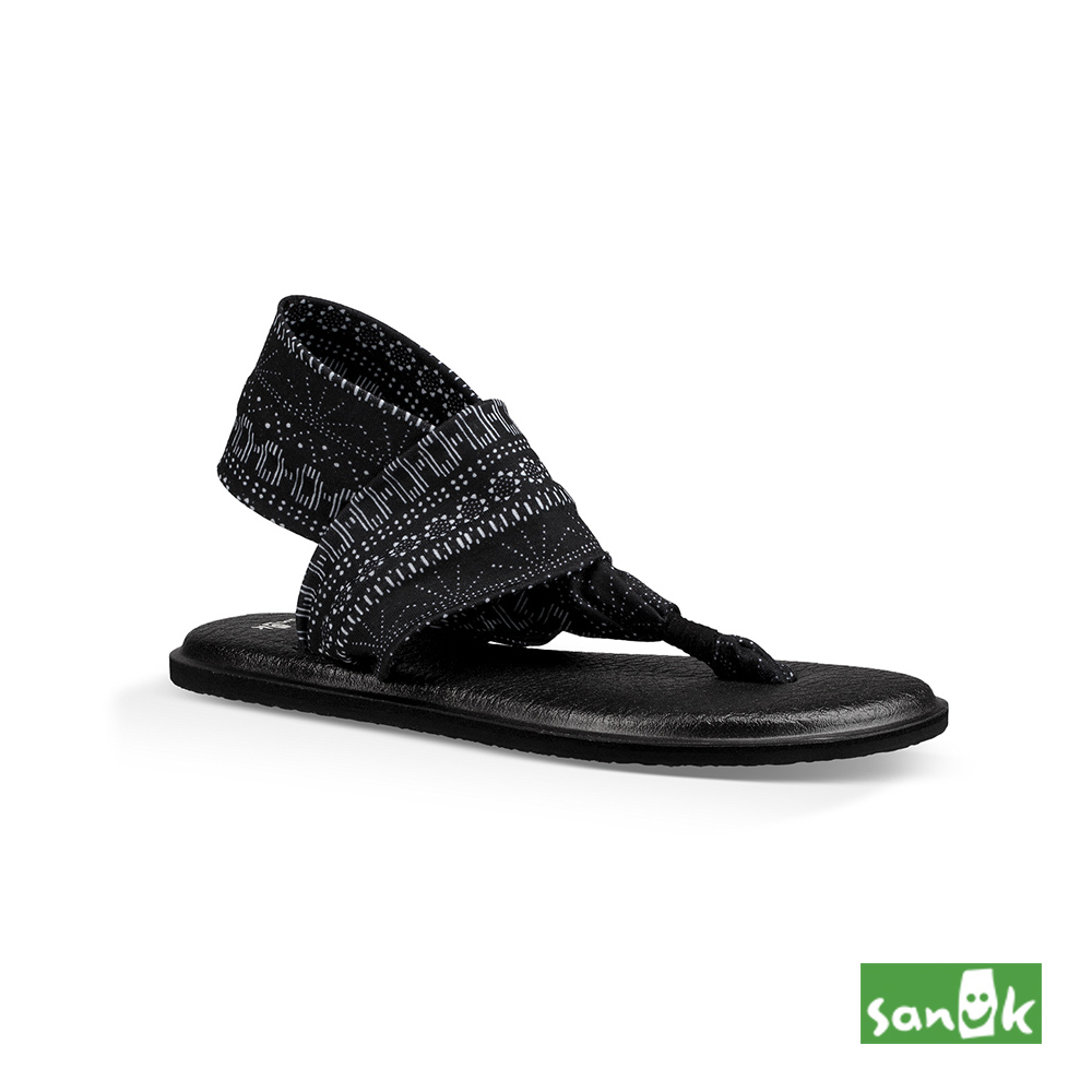 SANUK-YOGA SLING 2 格紋瑜伽墊涼鞋-女款(黑色)