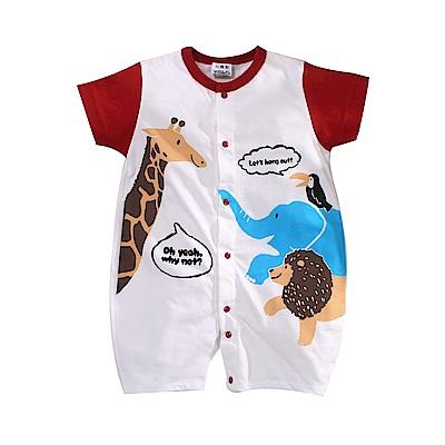 動物印花短袖連身衣 k51106 魔法Baby