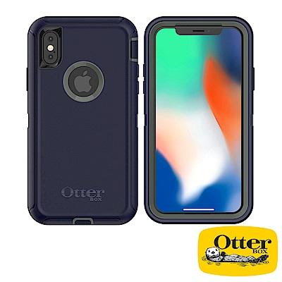 OtterBox iPhoneX防禦者系列保護殼-風暴灰