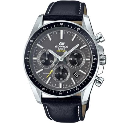 CASIO EDIFICE 三眼沉穩計時腕錶(EFB-570L-1A)黑/44.7mm