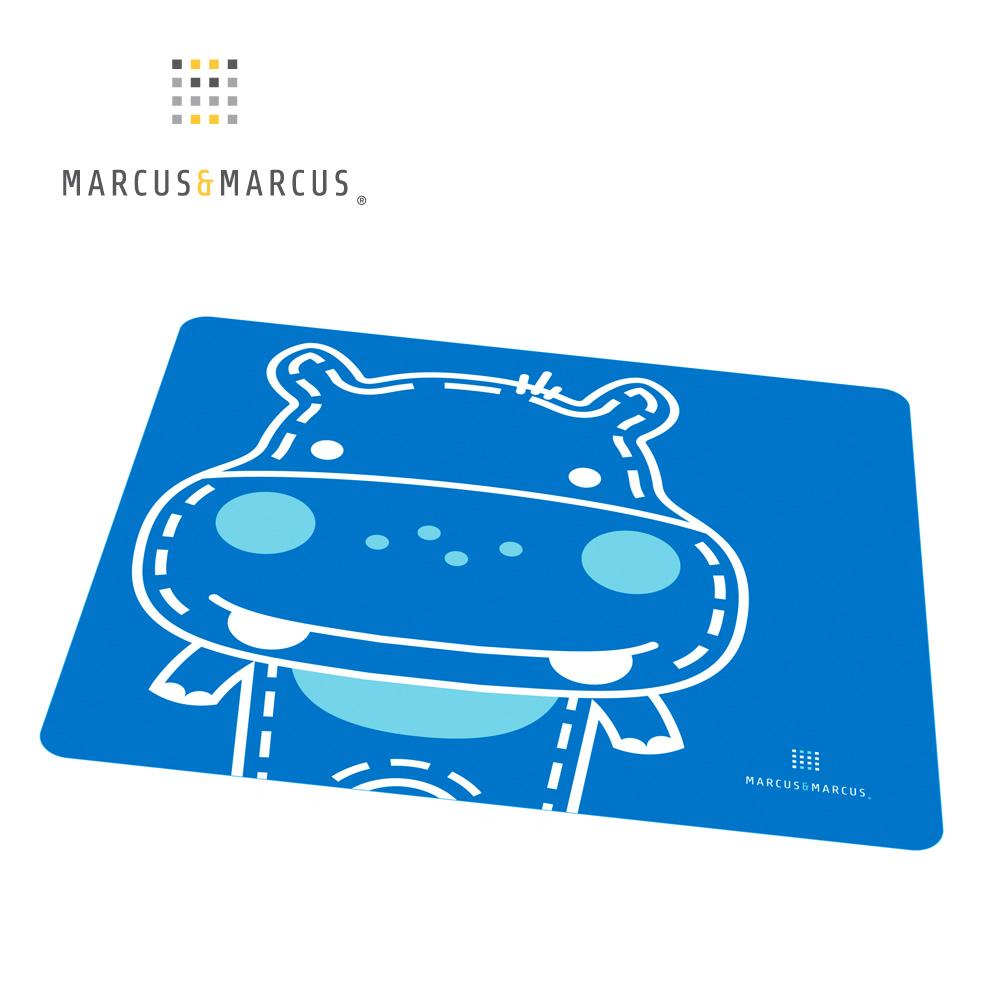 【MARCUS&MARCUS】動物樂園矽膠餐墊-河馬