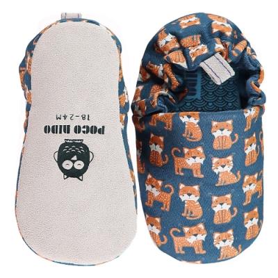 英國 POCONIDO 手工嬰兒鞋 (幸福小山貓-海軍藍)