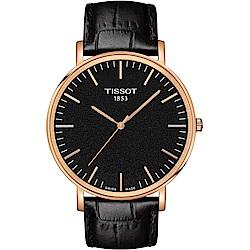 TISSOT天梭 Everytime經典簡約時尚錶(T1096103605100)-黑