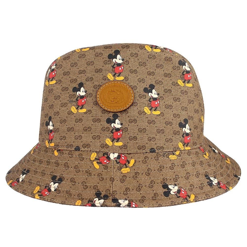 GUCCI Disney Mick 米奇防水帆布漁夫帽